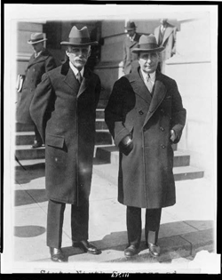 Treasury Secretary Andrew Mellon (left) and his deputy, Ogden Mills. Photo courtesy of the Library of Congress.